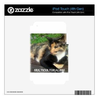 Multiculturalism Cat iPod Touch 4G Skin
