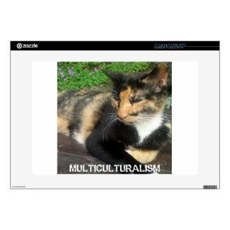 Multiculturalism Cat Laptop Decal