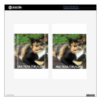 Multiculturalism Cat Skins For Kindle Fire