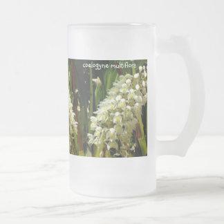 multiflora del coelogyne de la taza 16oz del vidri