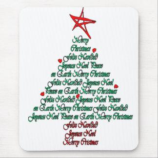 Multilanguage Chistmas Card Feliz Natal Tree Mouse Pad