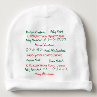 Multilanguage Merry Christmas Baby Beanie