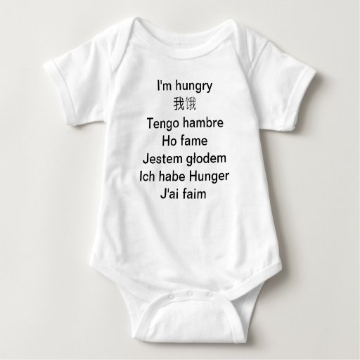 Multilingual Baby creeper - I'm hungry