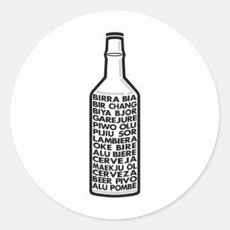 Multilingual Beer Sticker