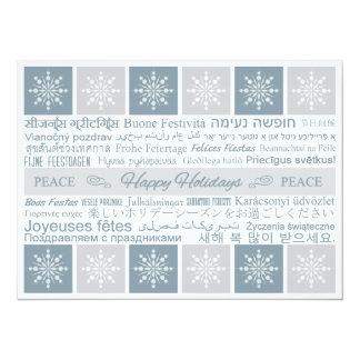 """Multilingual """"Happy Holidays"""" Custom Card"""