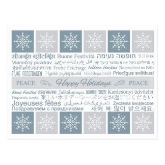 "Multilingual ""Happy Holidays"" postcard"