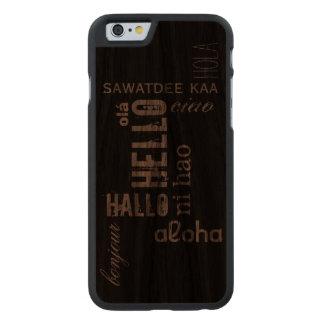 """Multilingual """"Hello"""" Wood Case"""
