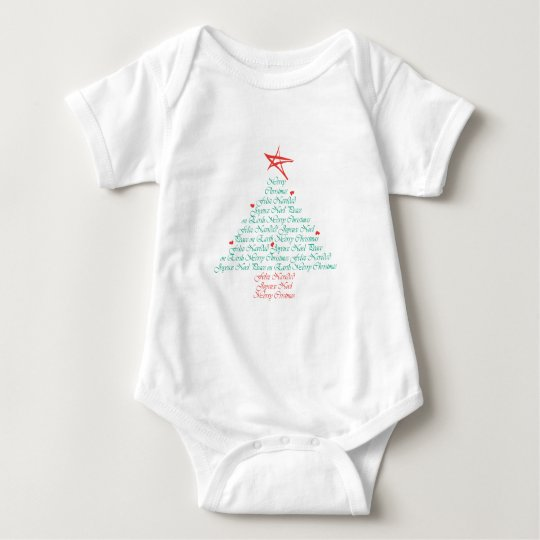 Multilingual Merry Christmas! Baby Bodysuit