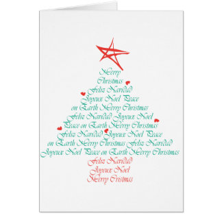 Multilingual Merry Christmas! Greeting Card