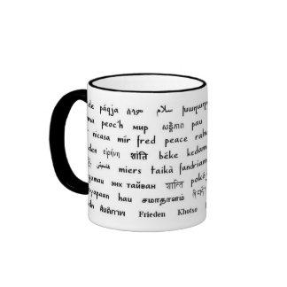 Multilingual Peace Ringer Coffee Mug