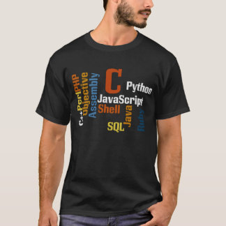 Multilingual Programmer Black T-Shirt