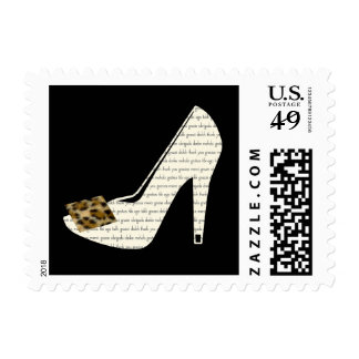 Multilingual Thank You Leopard Print Shoe Stamp