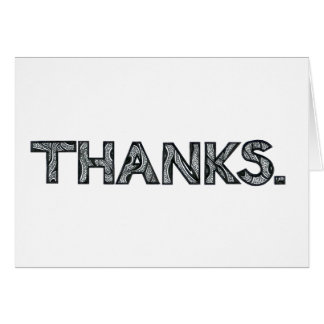 """Multilingual """"Thanks"""" Greeting Card 