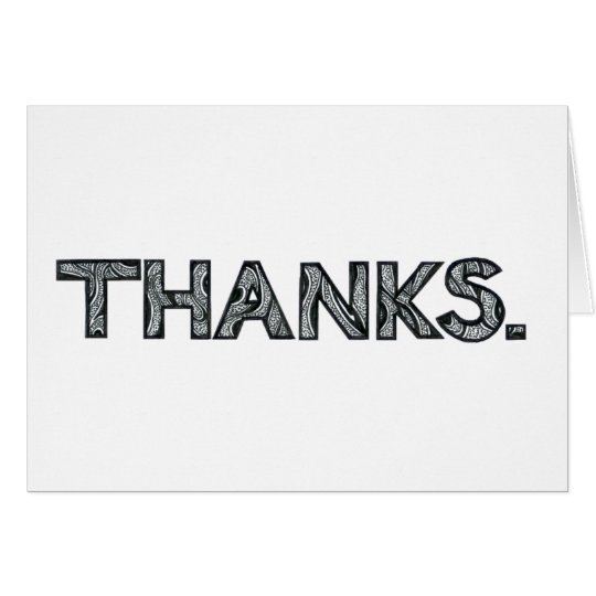 "Multilingual ""Thanks"" Greeting Card 