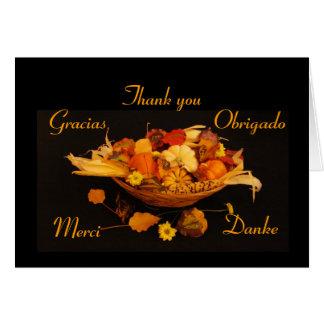 Multilingual Thanksgiving Greeting Card