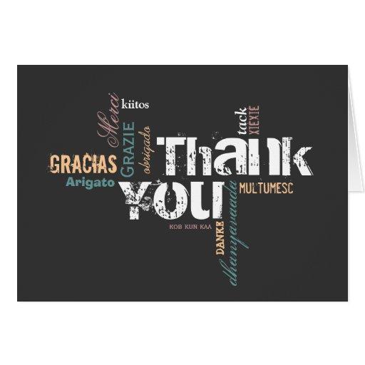 Multilingüe gracias cardar felicitaciones