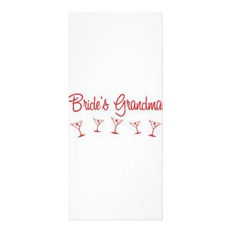 MultiMartini-BridesGrandma-Red Personalized Rack Card