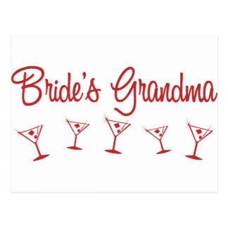 MultiMartini-BridesGrandma-Rojo Tarjetas Postales
