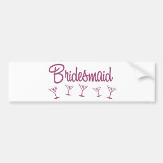 MultiMartini-Bridesmaid-Pink Bumper Sticker