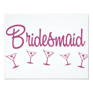 MultiMartini-Bridesmaid-Pink Card