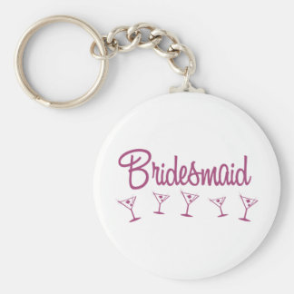 MultiMartini-Bridesmaid-Pink Keychain