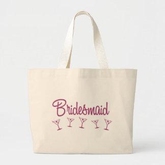MultiMartini-Bridesmaid-Pink Large Tote Bag