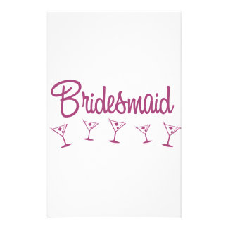 MultiMartini-Bridesmaid-Pink Stationery