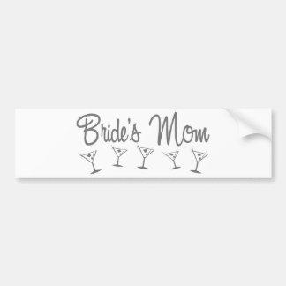 MultiMartini-BridesMom-grey Bumper Sticker