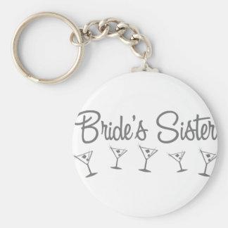 MultiMartini-BridesSister-grey Keychain