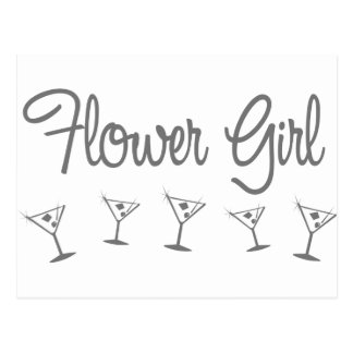MultiMartini-FlowerGirl-gris Postales