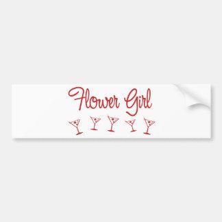 MultiMartini-FlowerGirl-Red Bumper Sticker