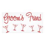 MultiMartini-GroomsFriend-Rojo Tarjetas Con Fotos Personalizadas