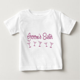 MultiMartini-GroomsSister-Pink Baby T-Shirt