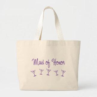 MultiMartini-MaidHonor-Purp Canvas Bag