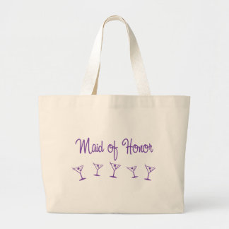 MultiMartini-MaidHonor-Purp Large Tote Bag