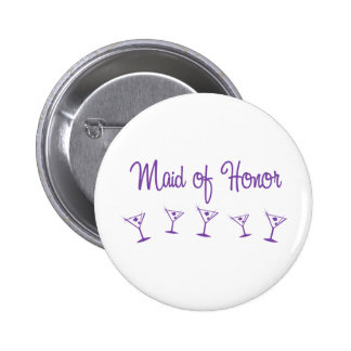 MultiMartini-MaidHonor-Purp Pin Redondo De 2 Pulgadas