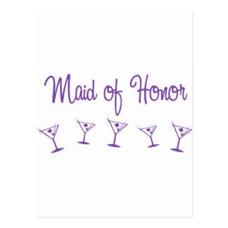 MultiMartini-MaidHonor-Purp Postcard