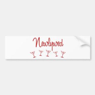 MultiMartini-Recién casado-Rojo Etiqueta De Parachoque