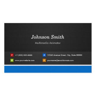 Multimedia Animator - Professional Customizable Business Card