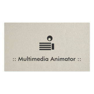 Multimedia Animator Simple Elegant Professional Double-Sided Standard Business Cards (Pack Of 100)