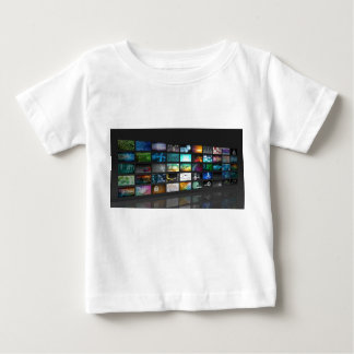 Multimedia Background for Digital Network Baby T-Shirt