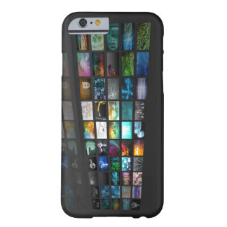 Multimedia Background for Digital Network Barely There iPhone 6 Case