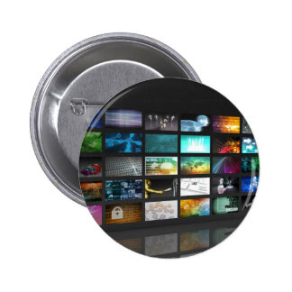 Multimedia Background for Digital Network 2 Inch Round Button