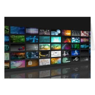 Multimedia Background for Digital Network Card
