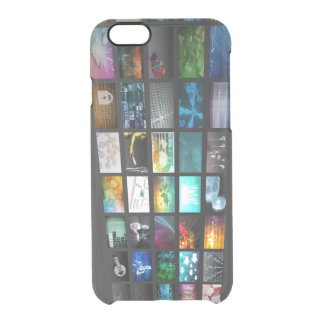 Multimedia Background for Digital Network Clear iPhone 6/6S Case