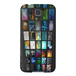 Multimedia Background for Digital Network Galaxy S5 Cover