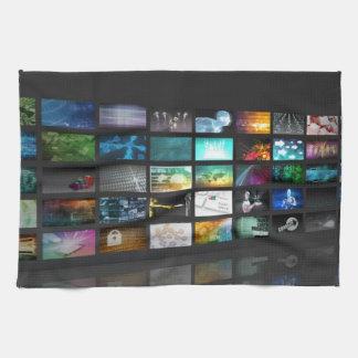 Multimedia Background for Digital Network Hand Towel