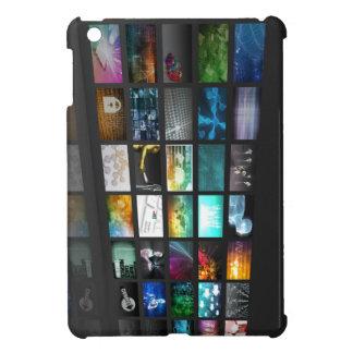 Multimedia Background for Digital Network iPad Mini Cases