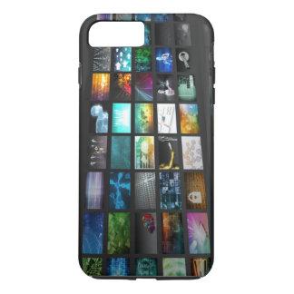 Multimedia Background for Digital Network iPhone 8 Plus/7 Plus Case