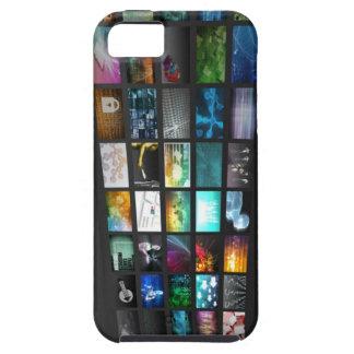 Multimedia Background for Digital Network iPhone SE/5/5s Case
